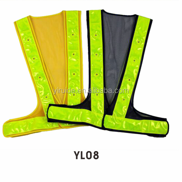 Led safety running vests reflective