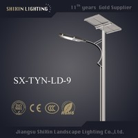 high lumen driveway lighting LED antique pole solar street light