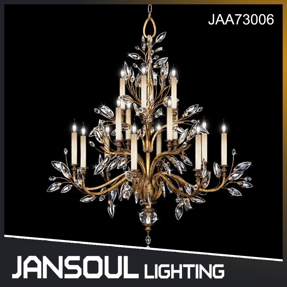 classical 16 lights trees shape crystal chandelier for churche dining room