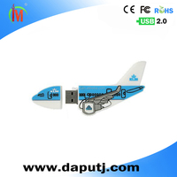 Customized usb pen drive aircraft usb flash drive 2.0 plane shape pvc usb external hard disk 8GB