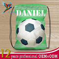 New design polyester football gym sports drawstring backpack