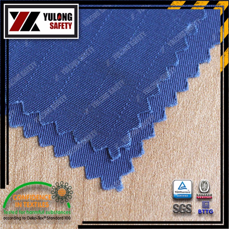 Factory direct sell EN11612 non flammable fabric for fireproof jackets