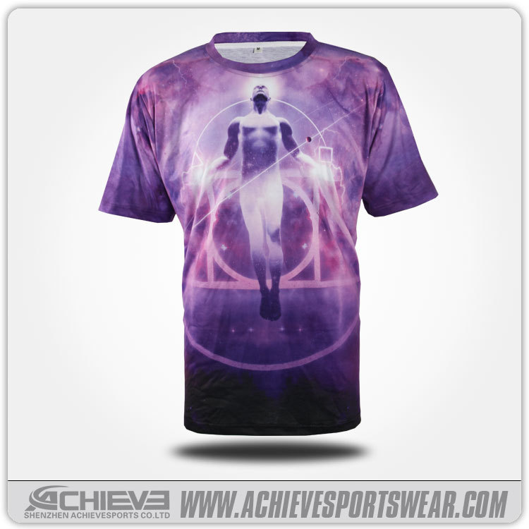 Wholesale all over custom dye sublimation short sleeve t shirt