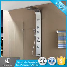 Foshan Suppliers Shower Panel Bathroom Wall Mounted Stainless Steel UPC Rain Shower Faucet