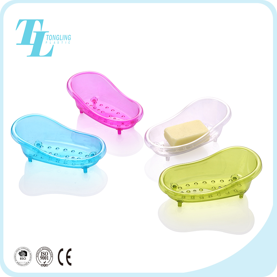Popular wholesale home hotel plastic holder bathtub soap dish