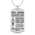 Free design stainless steel custom print logo family love souvenir dog tag