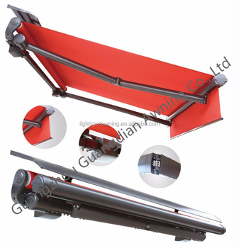 Retractable sundowner awnings mechanism
