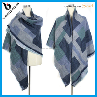 New fashion blanket tassel thick winter wool square scarf