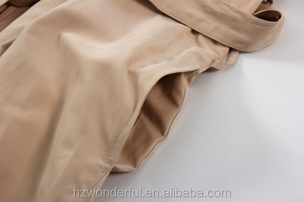 khaki double layer with terry inside hooded microfiber bathrobe