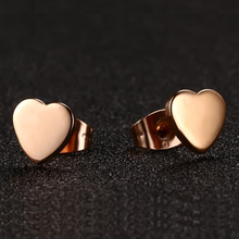 Korean Jewelry Cool Rose Gold Stud Earring