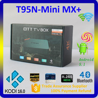 2016 New Arrival Amlogic S905 Quad Core 4K T95N-Mini MX+ Free HD Sex Pron Video TV Box
