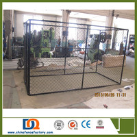 Hot Dipped Galvanized Chain Link large Metal Wire Dog Kennel wholesale