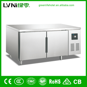 SBC-0.25L2F kitchen workbench freezer commercial workbench kitchen fridge stainless steel workbench kitchen freezer