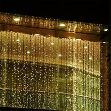 fiber optic waterfall light Curtain size 3m*3m 304LED 8 function wedding decoration