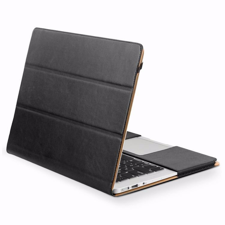 "QIALINO Genuine leather sleeve case for macbook air cover 12"" 12inch"