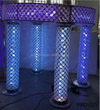 2017 Romantic crystal wedding centerpiece mandap decoration for wedding decoration mandap 16 colors can change MBD-015