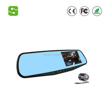 Factory price 1080P Car Dvr Camera Auto 4.3 Inch Rearview Mirror Digital Video Recorder Dual Lens Registratory Camcorder