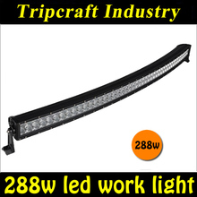 12v automotive led light,50 inch 288w led light bar,4x4 offroad curved headlight