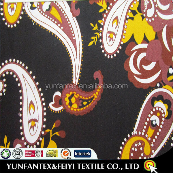2015 Hot Selling <strong>100</strong> Cotton Paisley Print Fabric From China