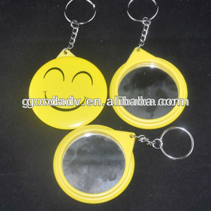2013 New product mirror key chain for promotional gift