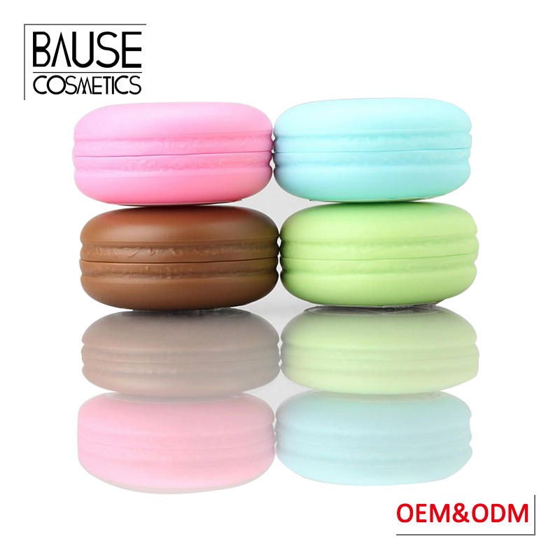 FDA approval Guangzhou oem makeup lip balm manufacturer private label organic macaron lip balm