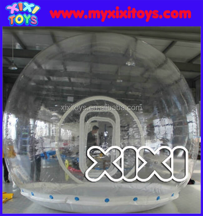 Large transparent inflatable bubble dome, inflatable clear bubble camping tent