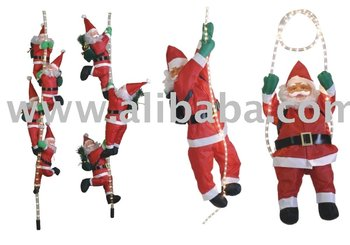 Santa Climbing Light Rope And LED Light Belt Christmas Decoration