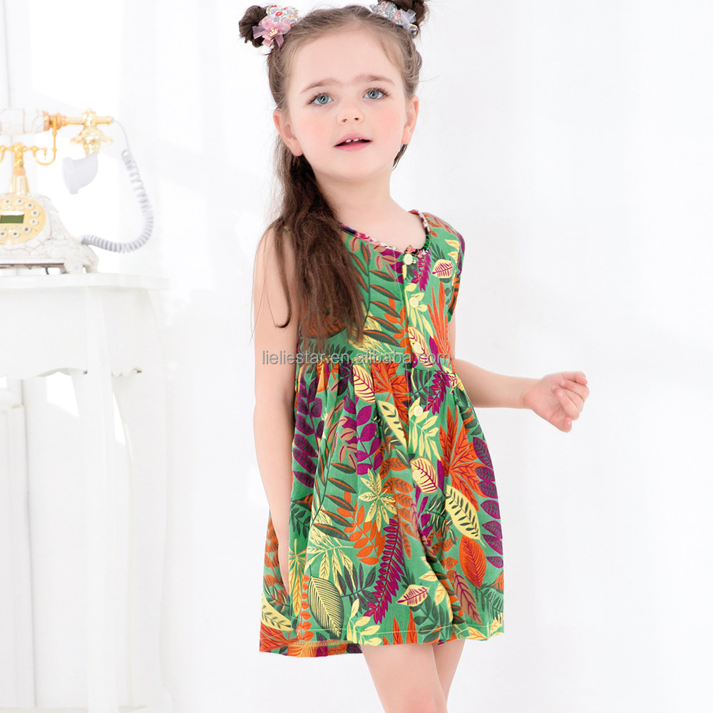 New design Baby Girl Dress Summer Kids Lovely Sleeveless dresses girl child dress