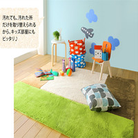 Washable polyester carpet area shaggy rugs baby mat