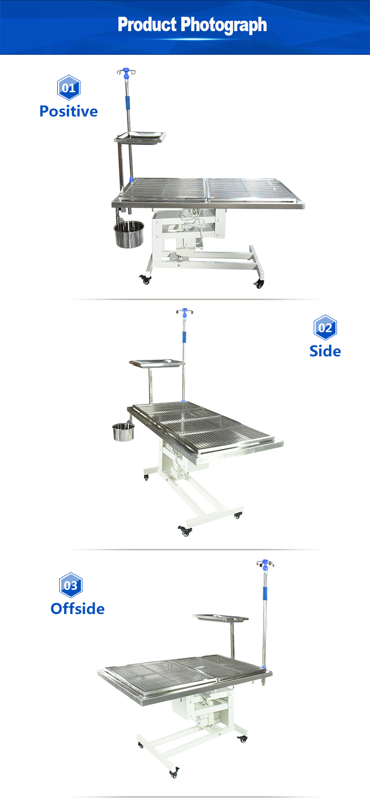 New design Electric lifting Pet Medical Animal operating table dissecting table