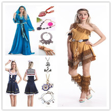 Instyles walson china caliente 2015 disfraz party clothes barato ladies pocahontas native american indian wild west costumeerotic