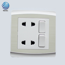 China Supply 16A 2Gang switched socket for sale