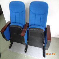 Durable fabric auditorium chair with writing table XJ-103