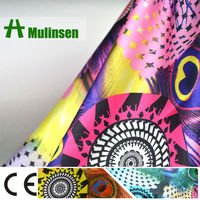 Printing Poly Lycra Digital Satin Fabric With Spandex