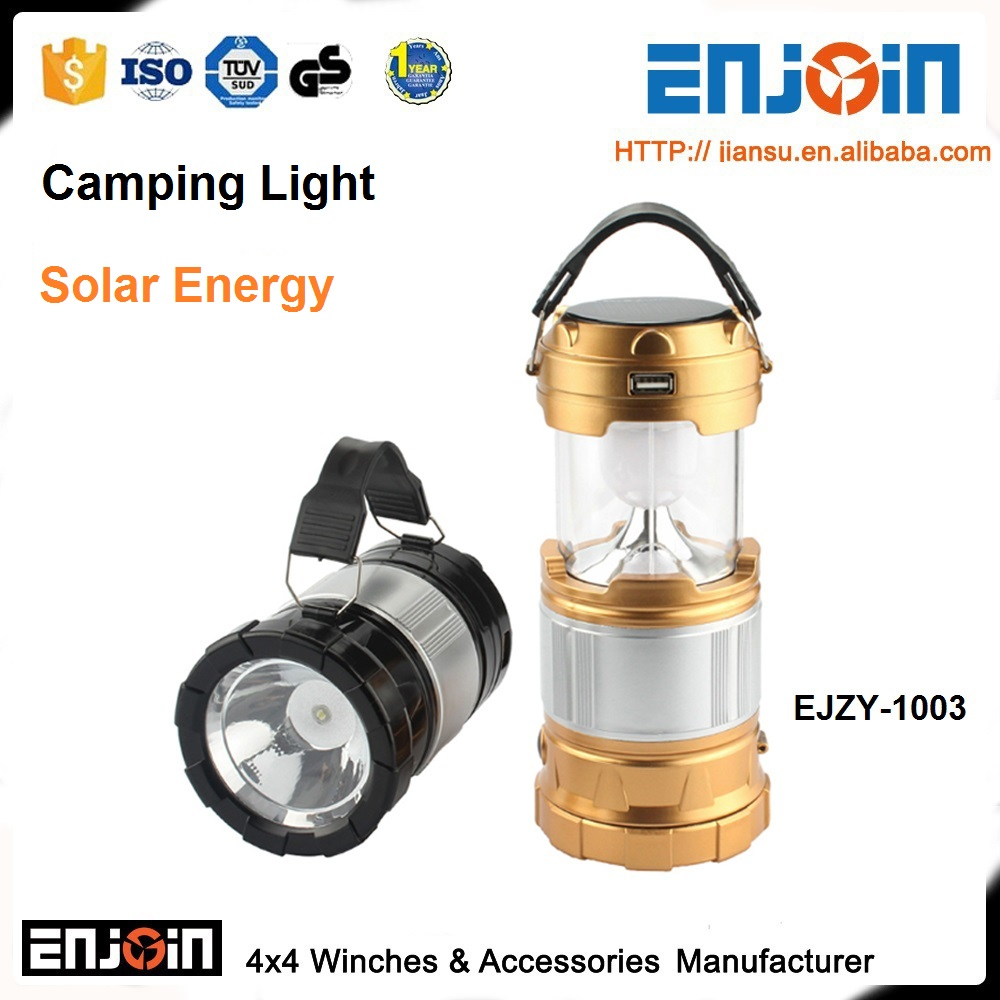 Multifunction LED 12v camping Solar light Portable light searchlight Camping lamp outdoor Hanging lantern