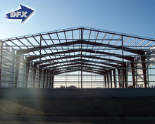 Temporary Curved Roof Prefab Light Steel Space Frame Construction Structure