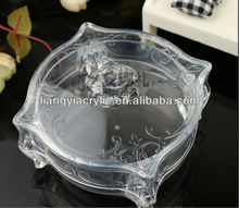 1x Clear Acrylic PVC Q-Tip/Cotton Pad Boxes &bins Storage Cosmetic Organizer Makeup case