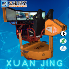 guangzhou factory arcade city use indoor 360 degrees rotation coin operated 2 players car racing simulator