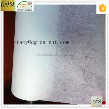 100%polyester nonwoven stick interlining with LDPE