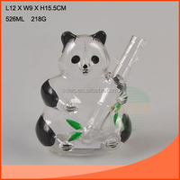 lampblown glassware shaped like a panda for home decoration