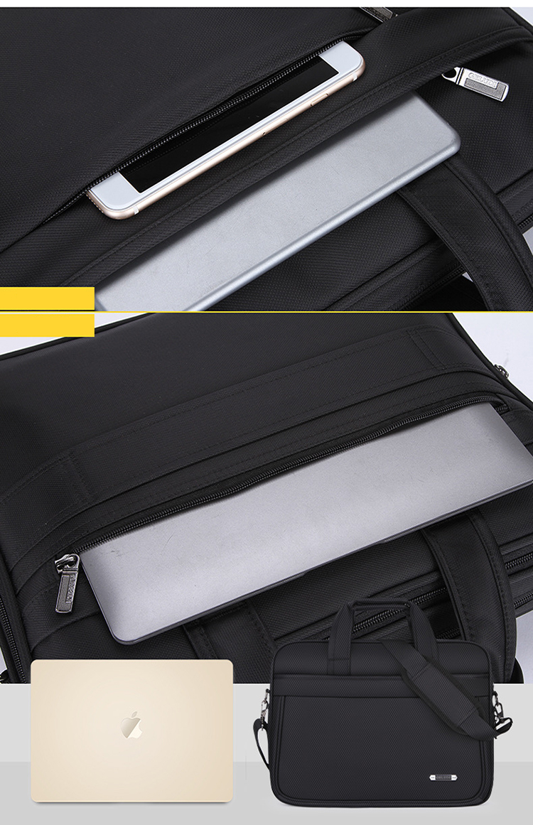 Wholesale Waterproof Fashion Men Messenger Computer bag Business 15.6 inch Shoulder Laptop bags Briefcase
