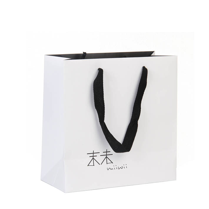 Top Quality Luxury White Foldable Paper Shopping Bag Custom Logo