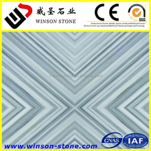hot sale chinese grey wood straight and diagonal green veins star sand white marble stone for wall cladding flooring tile stair