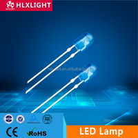 high lumens 5mm oval led blue rgb light emitting diode