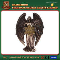 Religious crafts customized size good gift fine resin angel figurine