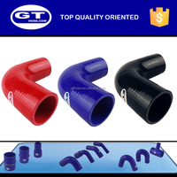 silicone rubber tubbing 90 degree pipe elbow/flexible heat resistant hose