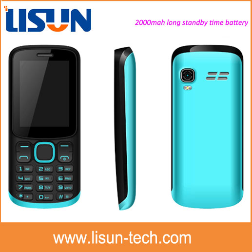 small MOQ latest 2.4 inch 2000mah big battery long talk time feature mobile phone OEM factory price