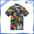 Hawaii Hangover Hawaiian Shirt Aloha Shirt in Blue with Yellow and Red Floral
