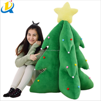 Wholesale promotion gift cheap plush stuffed soft Christmas tree toy
