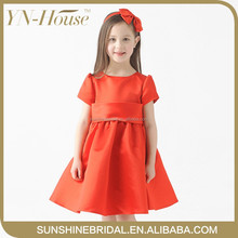 new arrived high quality red flower girl dress patterns for girls
